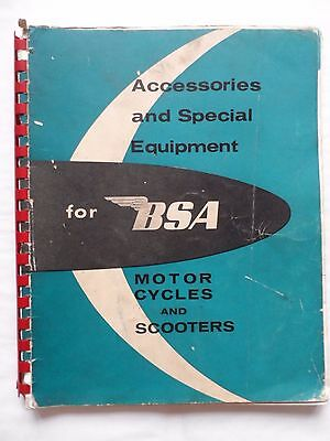 Accessories & Special Equipment for BSA Motor Cycles & Scooters - circa 1962