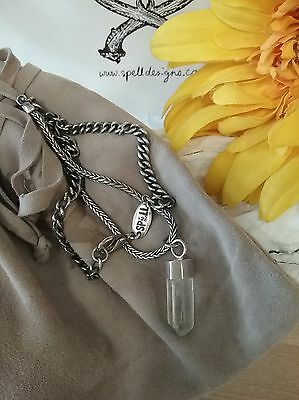 Spell And The Gypsy Collective SPELL DESIGNS Quartz Crystal Silver Bolt Necklace
