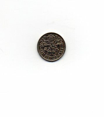 1955 Queen Elizabeth II Sixpence 6d coin - Circulated