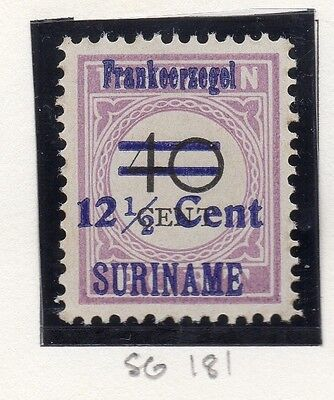Suriname 1926 Early Issue Fine Mint Hinged 12.5c. Surcharged Optd 168015