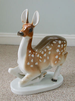 Lomonosov porcelain USSR / Russian very large deer doe