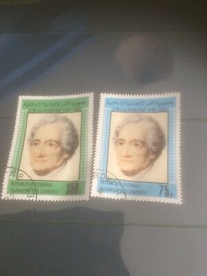 Comoro Islands Goethe Complete set Of Two Stamps