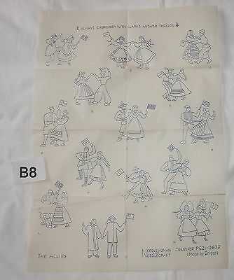 vintage embroidery iron on transfer, handsewing, needlepoint (B8)
