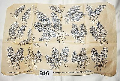 vintage embroidery iron on transfer, handsewing, needlepoint (B16)