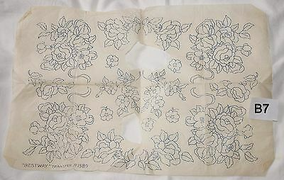 vintage embroidery iron on transfer, handsewing, needlepoint (B7)