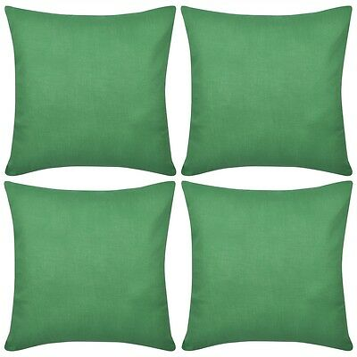 #4 Cushion Cover Pillow Case Soft Cotton Fabric Green Square Home Sofa Bed Decor