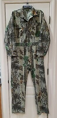 Men's Cabela's Realtree Brown Green Camo Coverall Hunting Suit Camouflage C Pics