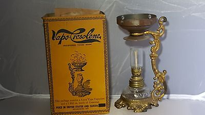 Antique Victorian Vapo-Cresolene  Oil Lamp and Box