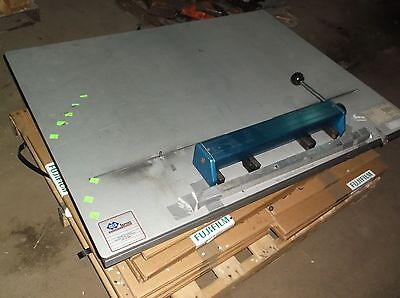 """Nela Ternes Register System Infinity Plate Punch 48"""" x 43"""" Table Top Used"""