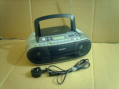 Sony CFD-S01 AM FM Stereo CD Radio Cassette Player Recorder Boombox