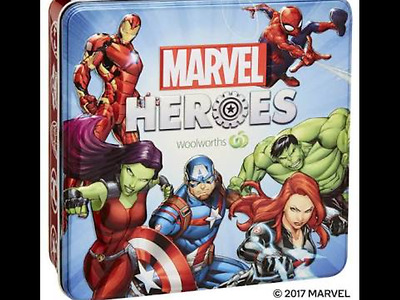 Woolworths Marvel Heroes Super Disc Collectors Tin Brand New & Sealed