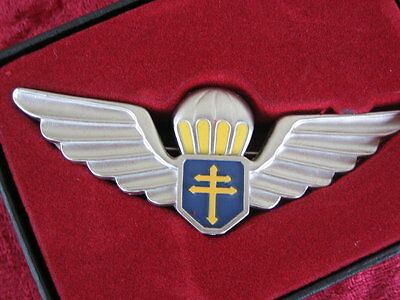 Para badge Free French Army paratroopers WW2 new with case