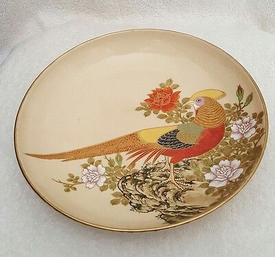 Antique Chinese Porcelain Bowl With Bird And Roses - Marked