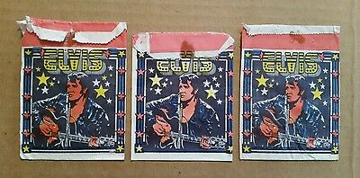 Elvis Trading Cards Wrappers (3),Monty Elvis Club,Holland,1980