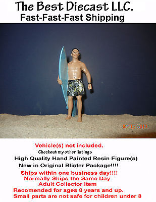 Surfer Gary American Diorama Figure 1:24 with surfboard