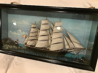 Antique Ship Diorama - Maritime Model Rigged Ship