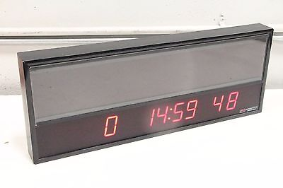 """BRG Precision Products ETCD100-P0812-B1-F4 Message Time Clock 24.25""""x9.25"""" LED"""