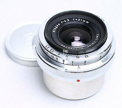 Carl Zeiss Contax Rangefinder 21Mm F/4.5 Biogon Wide Angle Lens -- Ex++