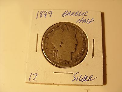 Very nice 1899  Silver Barber Half Dollar Check out the pictures (17)