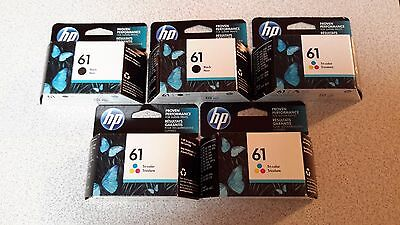 Set of hp 61 color and black ink cartridges