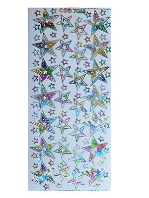 STARS IN STARS Peel Off Stickers Nesting Stars Card Making MULTICOLOUR