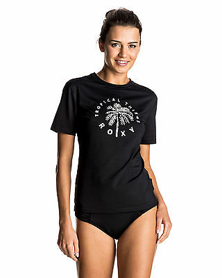 NEW ROXY™  Womens Palms Away Short Sleeve Rash Vest Womens Rashvest Rashsuit