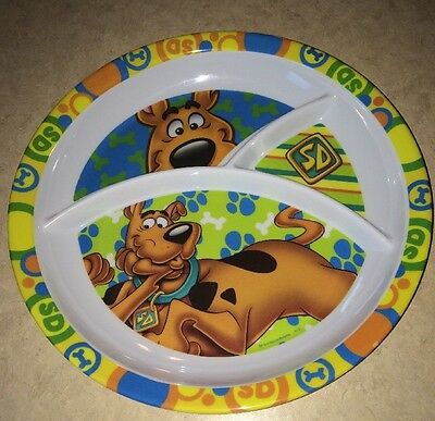 Scooby-Doo 10 inch divided child dinner plate