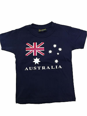 Kids baby T shirt Australia Australian Day Souvenir 100%cotton AU Flag