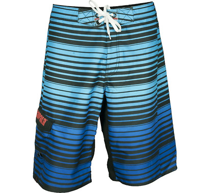 Rapala Repeat Stripe Board Short - Blue