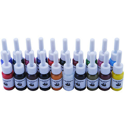 20pc Tattoo Ink Tätowierung Pigment profi Tätowierfarbe Set Tattoofarbstoff Set