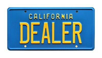 80s DeLorean Poster / California / DEALER *METAL STAMPED* USA Size License Plate