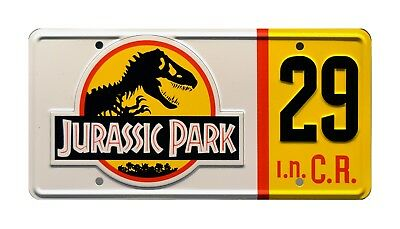 Jurassic Park | Hammond's Jeep | #29 | Metal Stamped Replica Prop License Plate