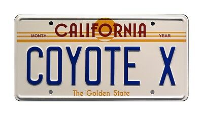 Hardcastle and McCormick / Manta Montage / COYOTE X *Stamped* Prop License Plate