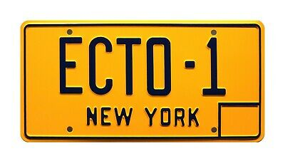 Ghostbusters / '59 Cadillac Hearse / ECTO-1 *STAMPED* Prop Replica License Plate
