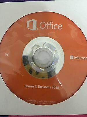 Microsoft Office HOME BUSNIESS 2016 DVD Brand New Genuine - 2 PCs Install