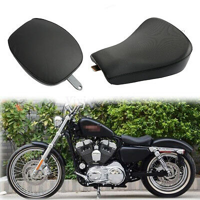 Front Driver Solo Seat & Rear Passenger Seat Pad For Harley XL Sportster 1200