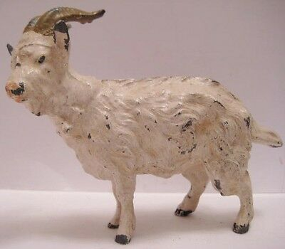 Old 1930s German Lead Horned Ram for Christmas Putz Village
