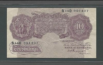 Lot of 3 Bank of England 10 Shillings Banknote No Date Peppiatt Signature