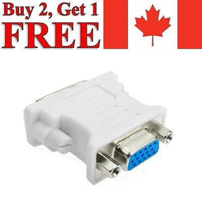 DVI-D Male to VGA Female Converter Adapter 24+1 Dual Link 15 Pin for PC