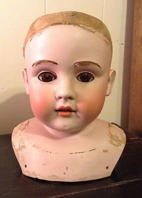 Antique German Doll Head 8 Inches Tall Marked DEP 195.16