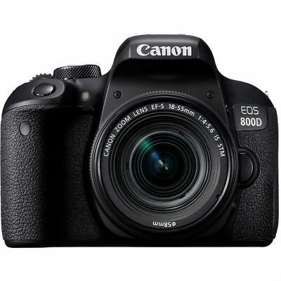 Nuevo Canon Eos 800D Cámara Digital Slr + Ef-S 18-55Mm F/4-5.6 Is Stm 24.2Mp