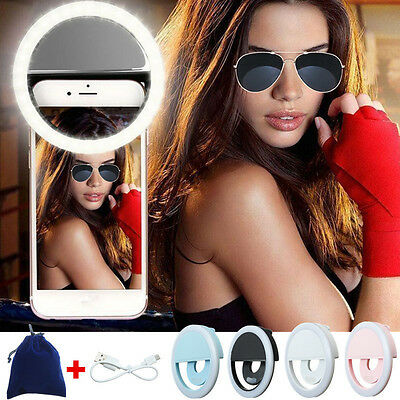Selfie LED Ring Fill Light Camera Photography Portable For IPhone Android Phone
