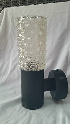 VINTAGE Retro WALL Light HOBNOB/bubble GLASS Shade mid-century 70's sconce