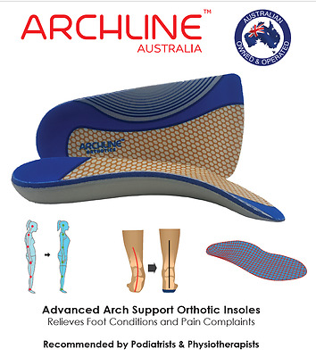 ARCHLINE™ Slimline Orthotic 3/4 Insoles - Foot Pain Relief Comfy Arch Support