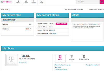 T-Mobile Pay-As-You-Go Gold Rewards Legacy Plan SIM $145.00 balance & iPhone 3GS