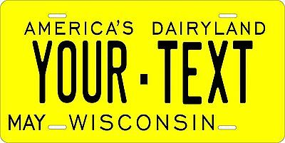Wisconsin 1968  License Plate Personalized Custom Auto Bike Motorcycle Moped