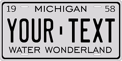 Michigan 1958 License Plate Personalized Custom Auto Bike Motorcycle Moped Tag
