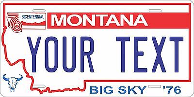 Montana 1976-90 License Plate Personalized Custom Auto Bike Motorcycle Moped tag