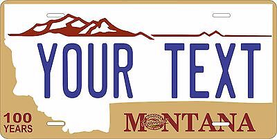 Montana 1987-90 License Plate Personalized Custom Auto Bike Motorcycle Moped tag