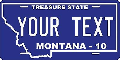 Montana 2010 License Plate Personalized Custom Auto Bike Motorcycle Moped tag